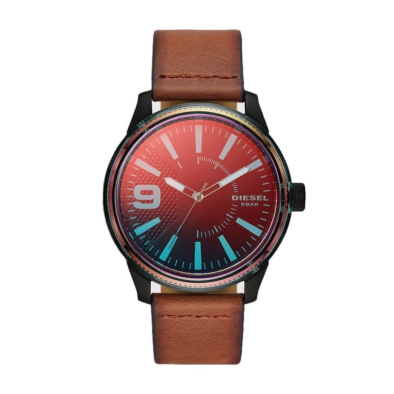 Rasp Nsbb Three-Hand Brown Leather Watch