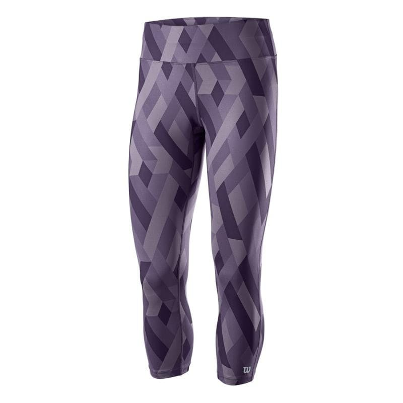 Women's Purple Printed 3/4 Tights