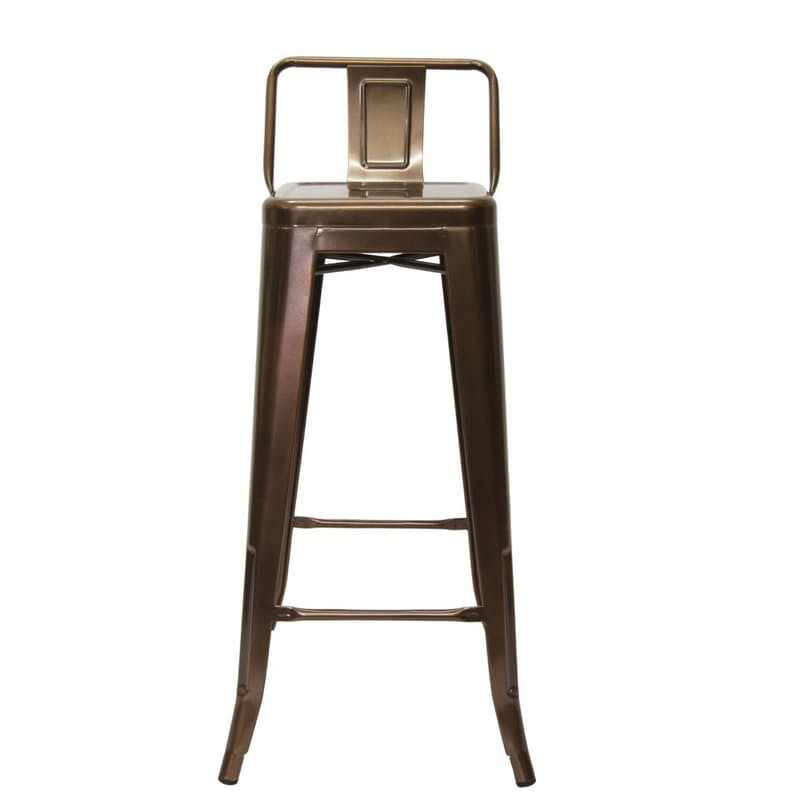 Industrial Copper Barstool