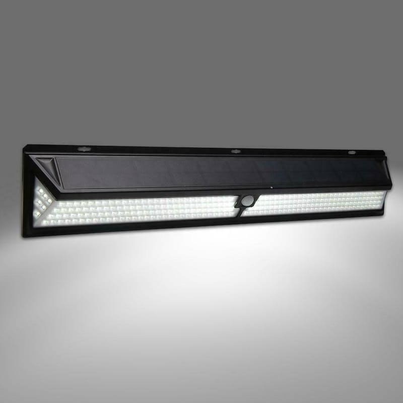 184 LED IP65 Extra-length Solar Wall Light with Remote Control