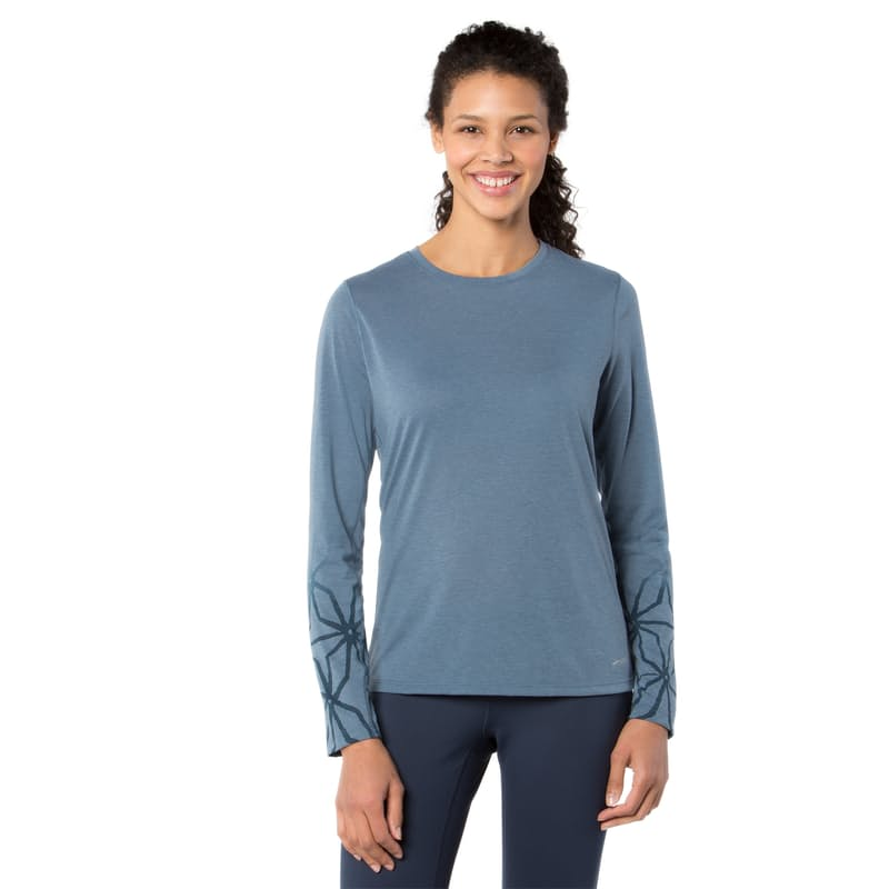 Ladies Versatile Long Sleeve IV in Heather/Storm