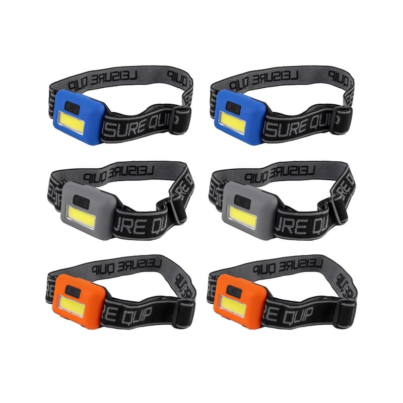 Pack of 6 Headlights with Batteries