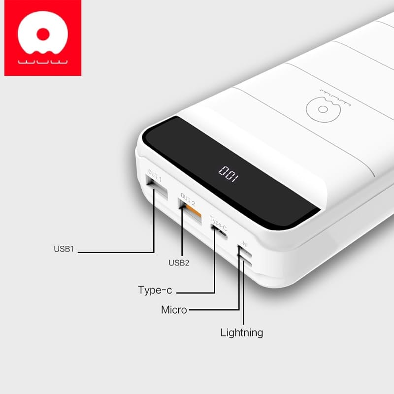 30000mAh Premium QC3.0 Ultra High Capacity Power Bank (3 Charging inputs: Lightning, Micro USB or Type C)