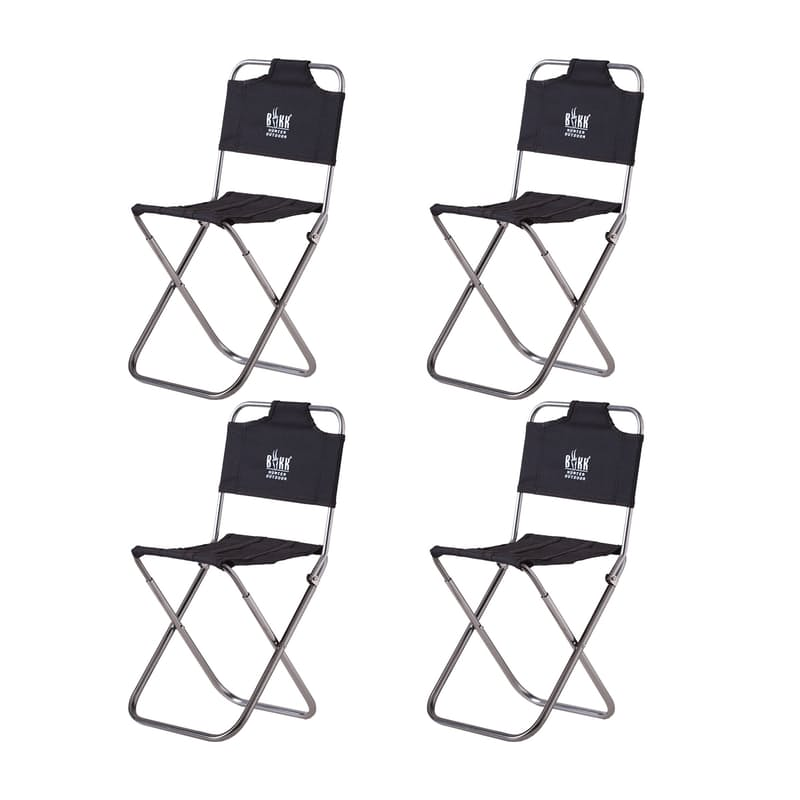 Set Of 4 Mini Portable Camping Chairs