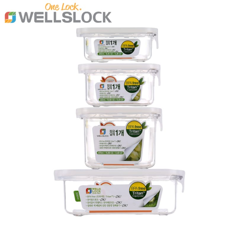 Tritan Slide Tight BPA Free Food Storage Set (Set of 4)