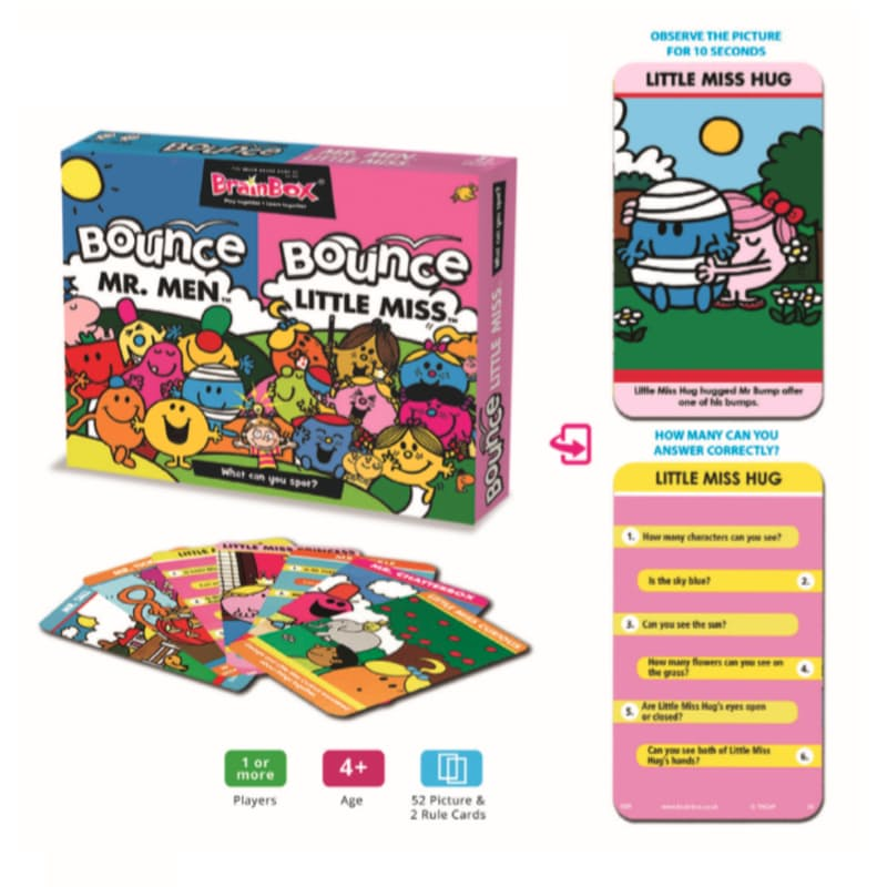 Bounce Back Memory Card Game - Mr. Men and Little Miss