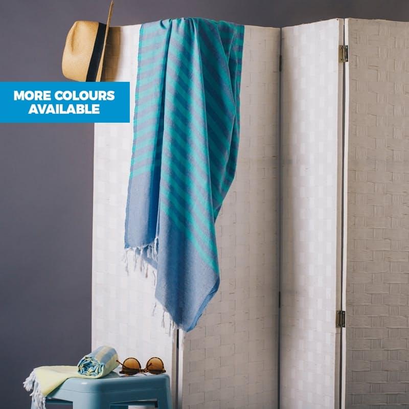 100% Cotton Flat Weave Hammam Towel (90cm x 190cm)