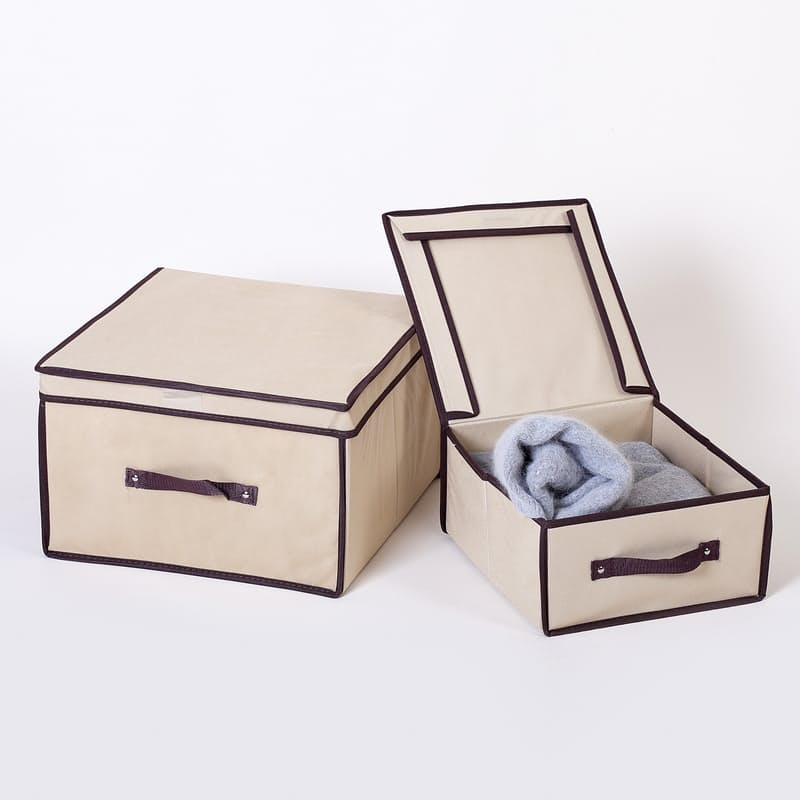 Pack of 2 Collapsible Storage Boxes (Multiple Sizes Available)