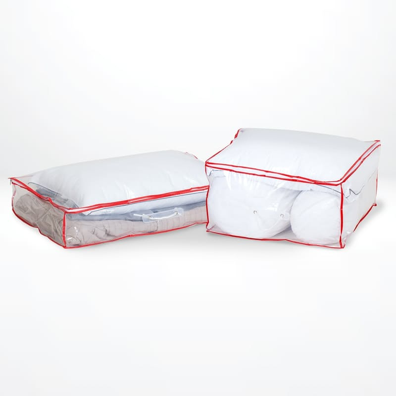 Set of 2 Clear Under Bed Storage Organisers