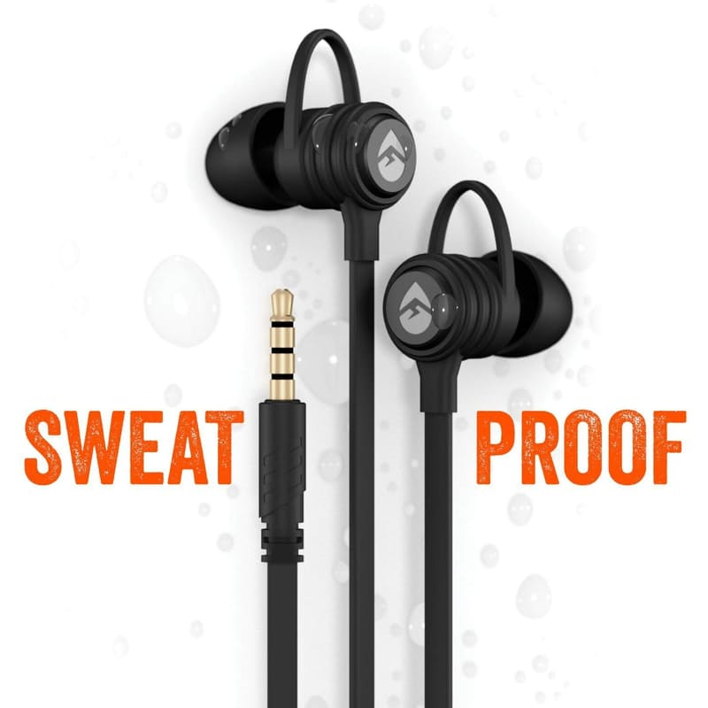 Pack of 2 CB10 Sweat Proof Wired Sport Buds