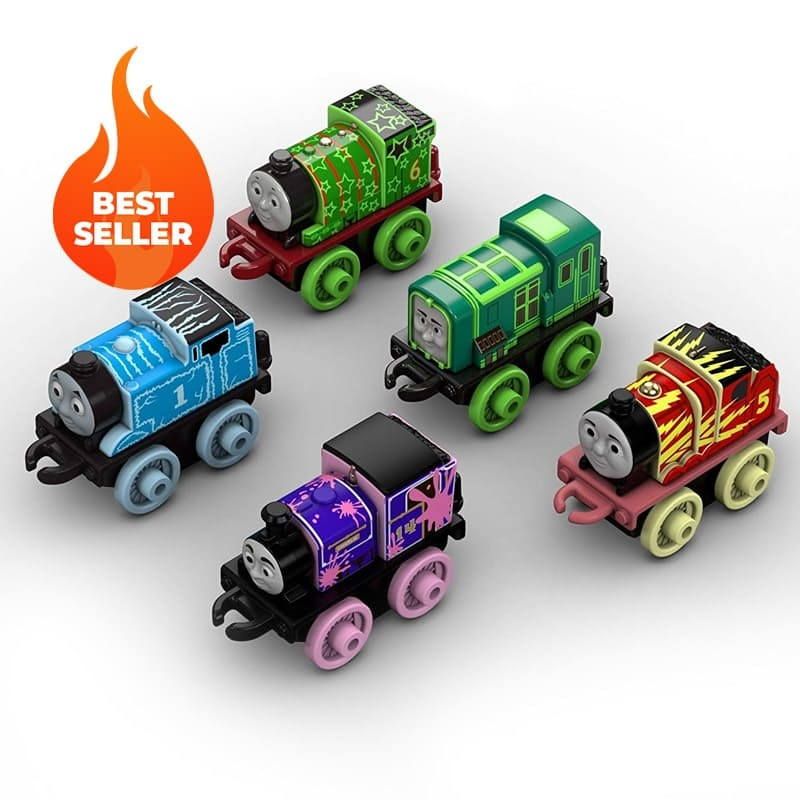 Set of 5, Glow In The Dark MINI Trains
