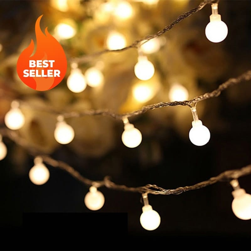 20 Micro LED Warm White Ball String Lights (3.5m)