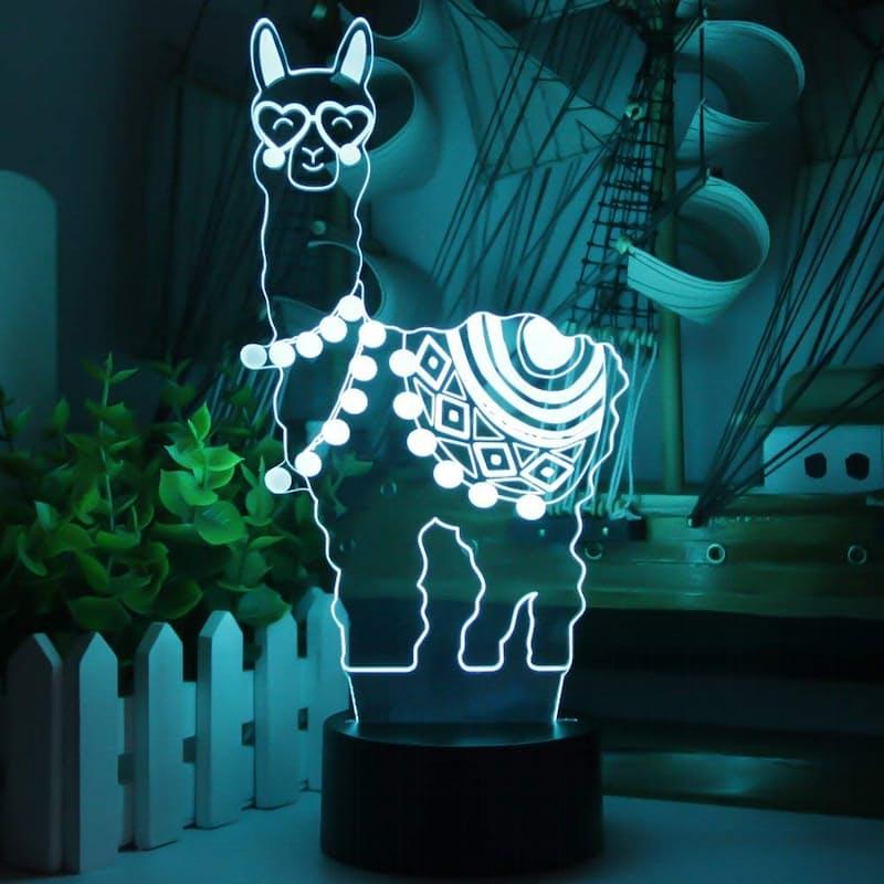 Llama LED 3D Optical Illusion Night Lamp