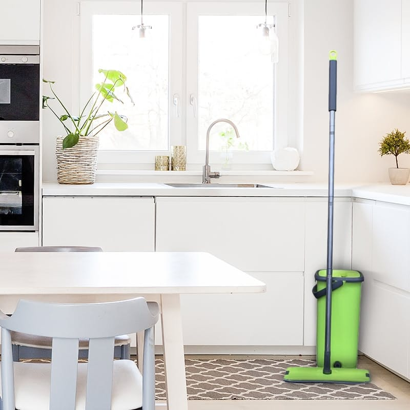 Wonder Mop With Microfibre Cloth Pad and Wash/Dry Bucket