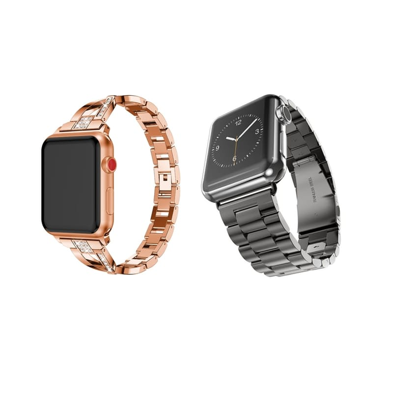 X-Link Rose Gold Or Black Stainless Steel Apple Watch Straps