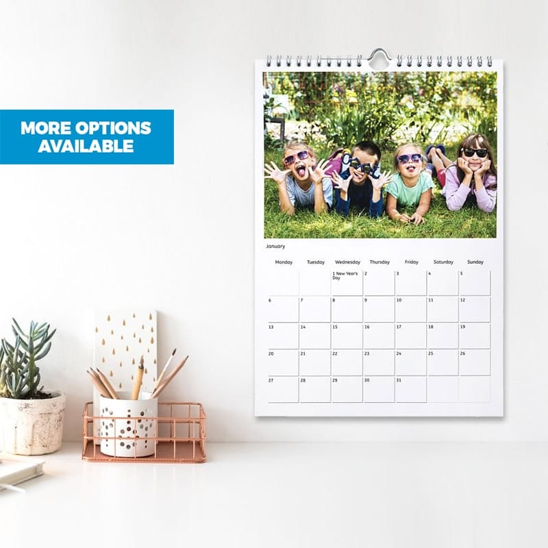 A4 or A3 Personalised 13 Page Calendar