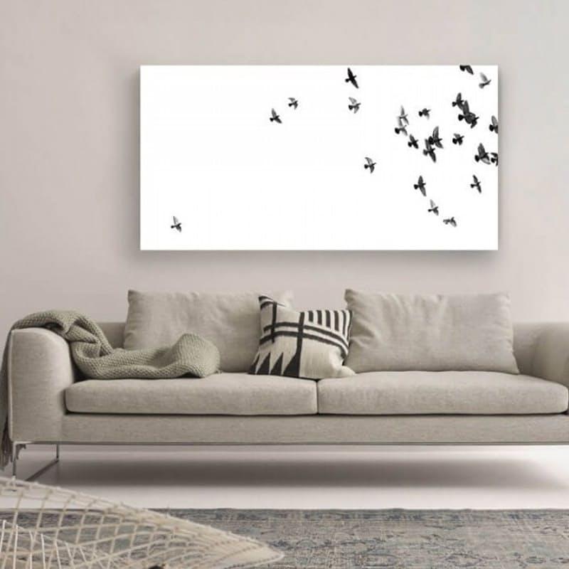 Flock of Pigeons Canvas Art