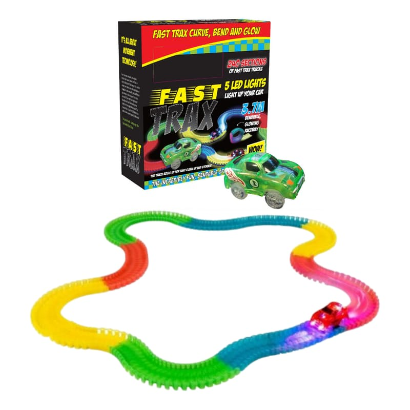 Glow In the Dark Bendable Track with Remote Control Car