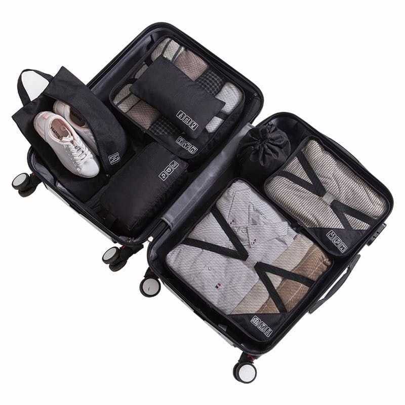 7 Piece Travel Cube Set With Fastening Straps (Multiple Colours Available)
