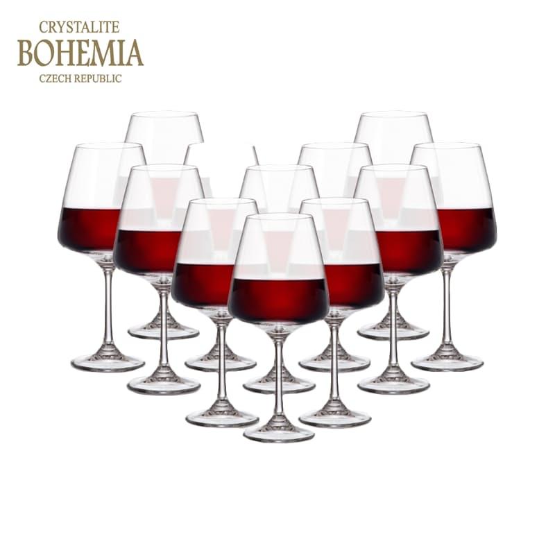 Set of 12 - 450ml Red Wine Glasses