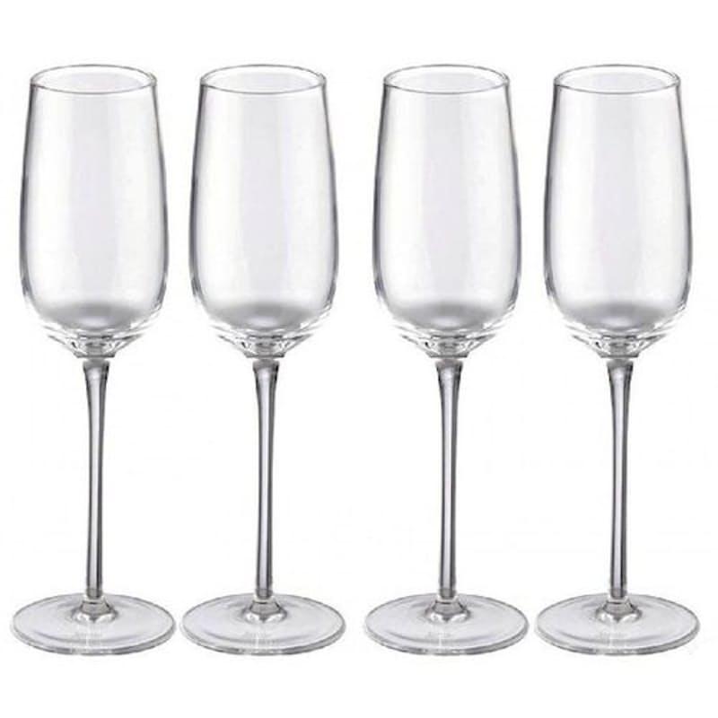 Set of 4 Vintage Champagne Glasses (220ml)
