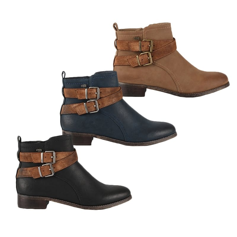 Ladies Abir Ankle Boots (Multiple Colours Available)