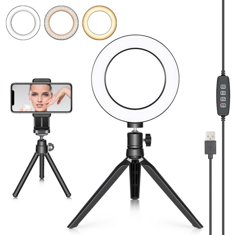 """6"""" Selfie Ring Light with Multiple Light Modes"""