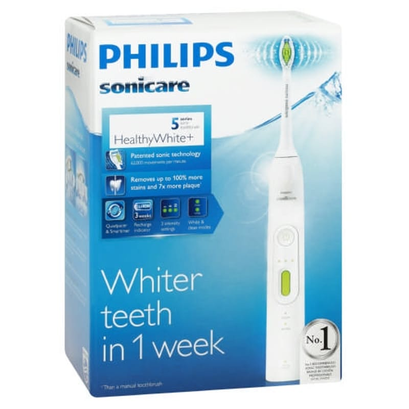 Sonicare Healthy White Toothbrush with 2Modes, 6 Customisable Settings and 1 brush head (HX8911/04)