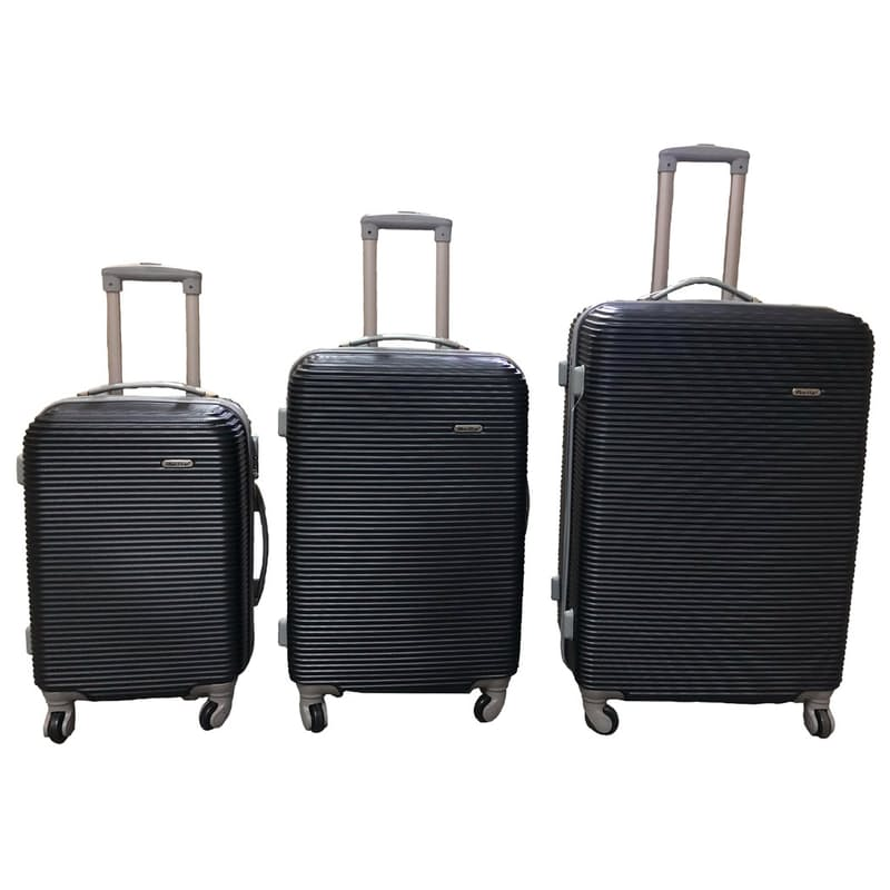 3-Piece Hardside Spinner Trolley Set with Combination Lock