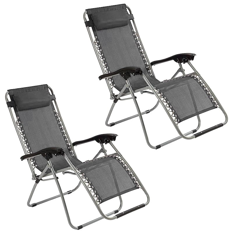 Set of 2 Outdoor Lounge Chairs