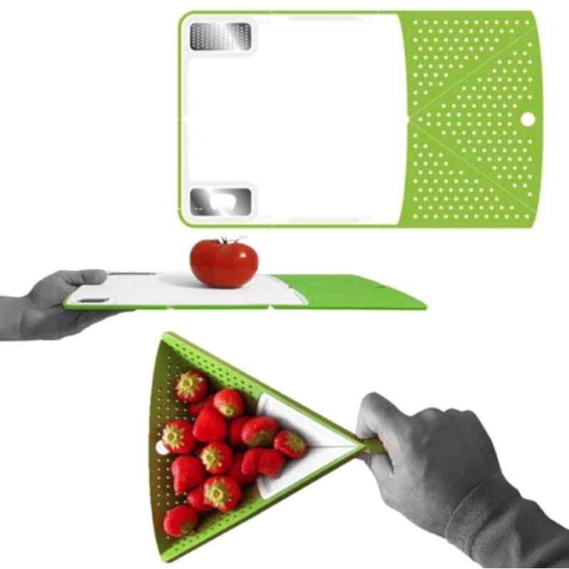 Multi-Functional Origami Non-Slip Chopping Board