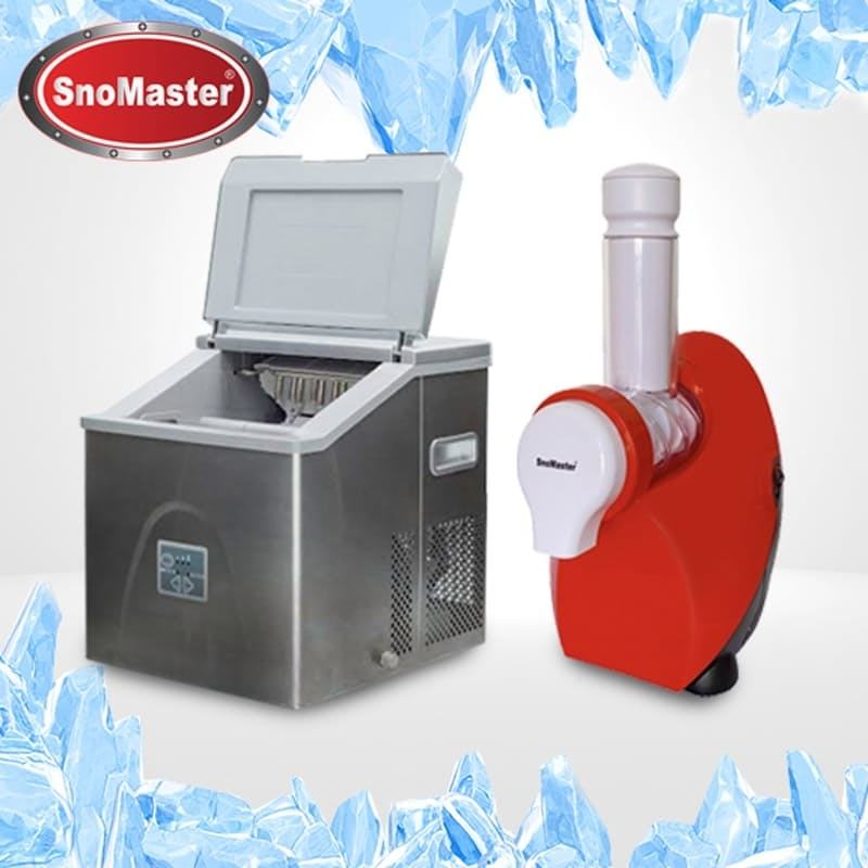 Stainless Steel Ice Maker - 20kg with Delicious Frozen Dessert Maker
