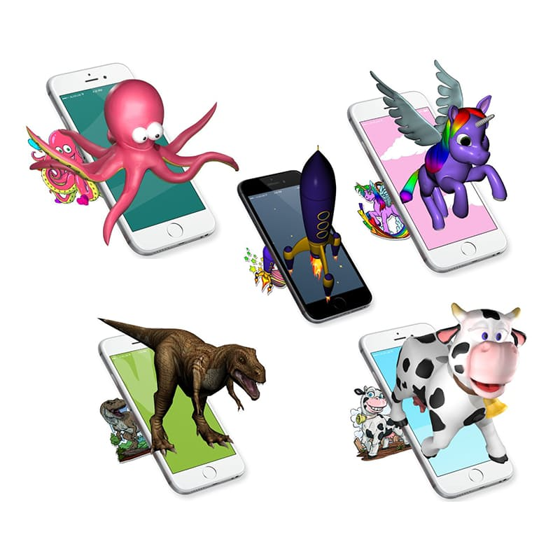 Pack of 10 Interactive Stickers