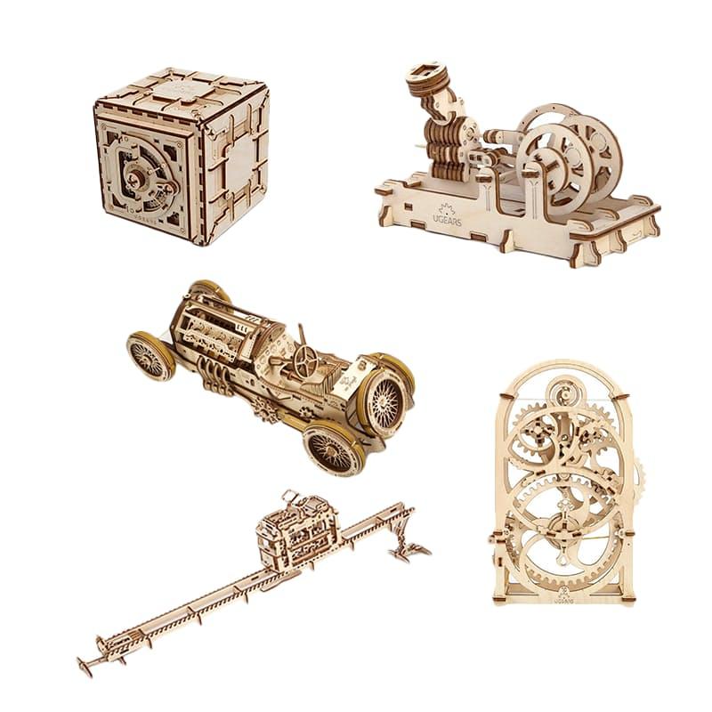 3D Wooden Model Building Kit