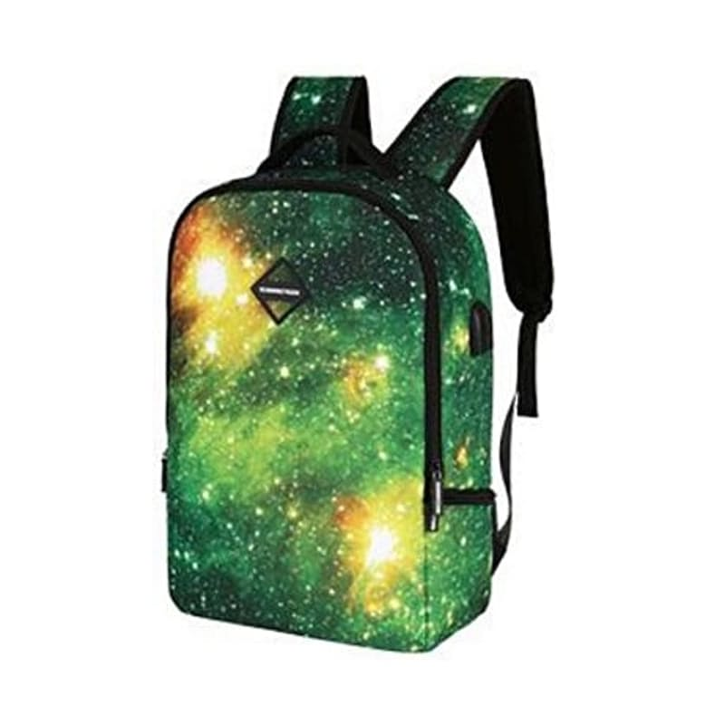 USB Charging Galaxy Anti-Theft Laptop Backpack