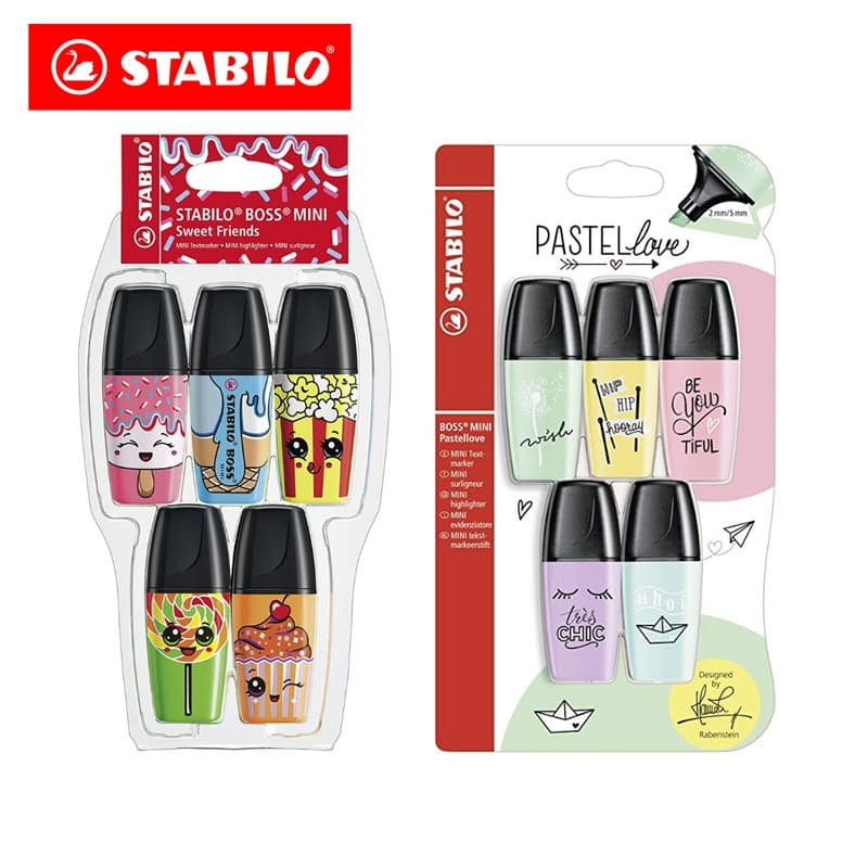 Pack of 10 Assorted Mini Highlighters