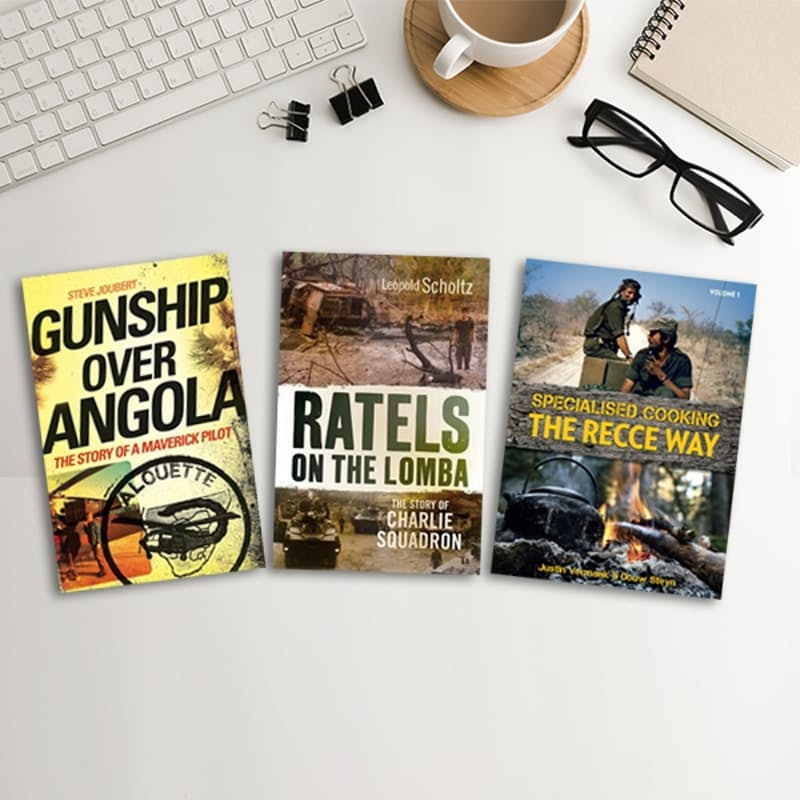 Gunship Over Angola, Ratels on the Lomba & Recce Way: Specialised Cooking Book Bundle