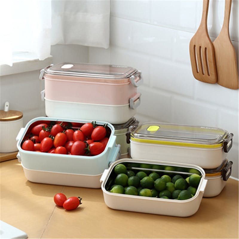 Triple Layer Stainless Steel Thermal Insulated Lunch Box Set