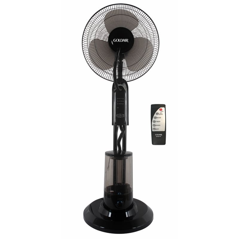2-in-1 Pedestal Mist Fan (Black)