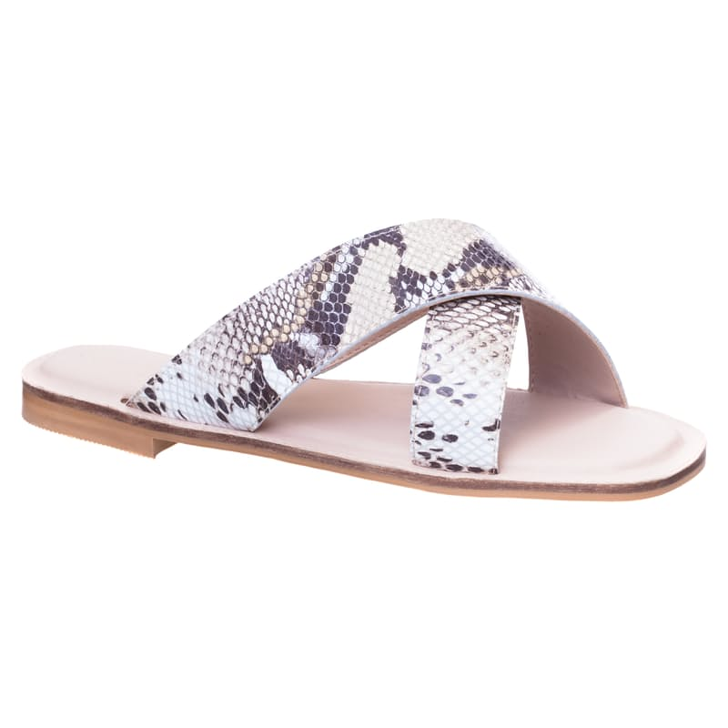 Genuine Leather Ladies Lacy Crossover Sandal