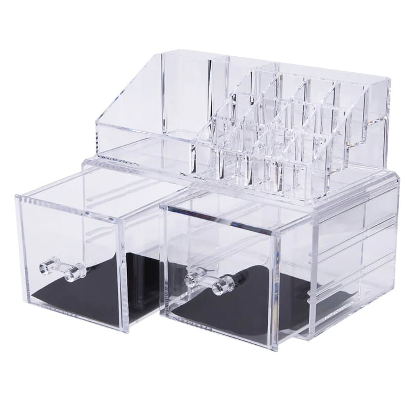 Cosmetic Display Organiser with Multiple Drawers