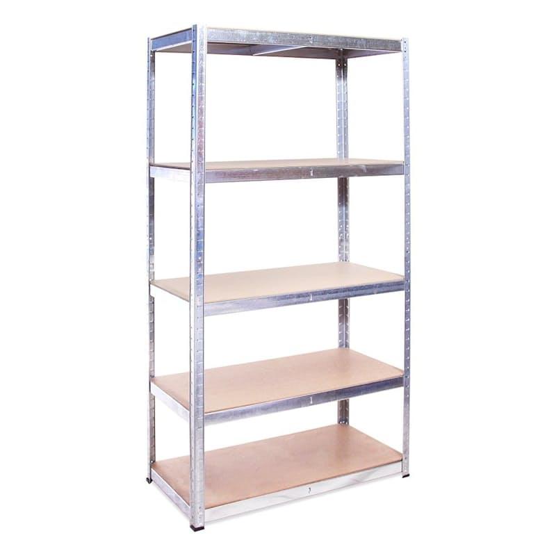 5 Tier Heavy Duty Galvanized Metal Shelf Unit (Max Weight of 250kg per Shelf)