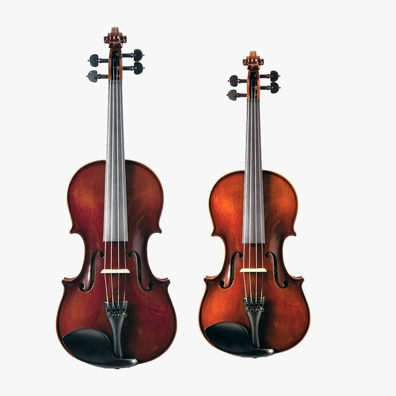 3/4 or 4/4 Violin with Flight Case and Bow