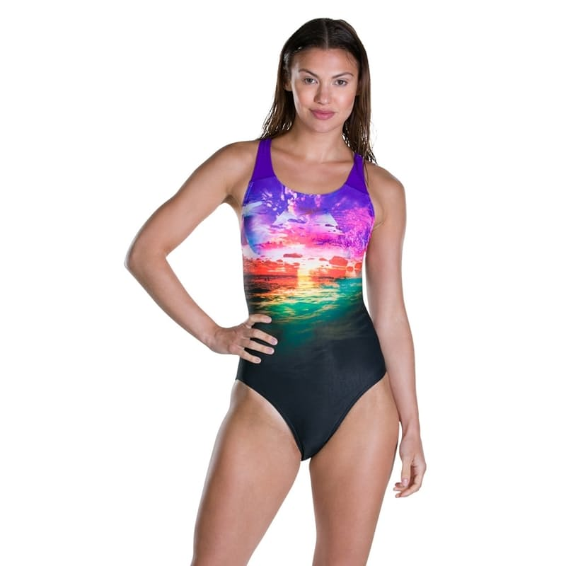 Ladies Sunbloom Powerback Swimsuit