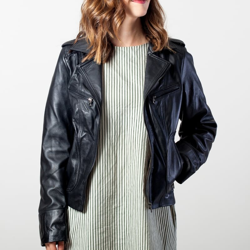 Ladies Jane Biker Zipped Jacket
