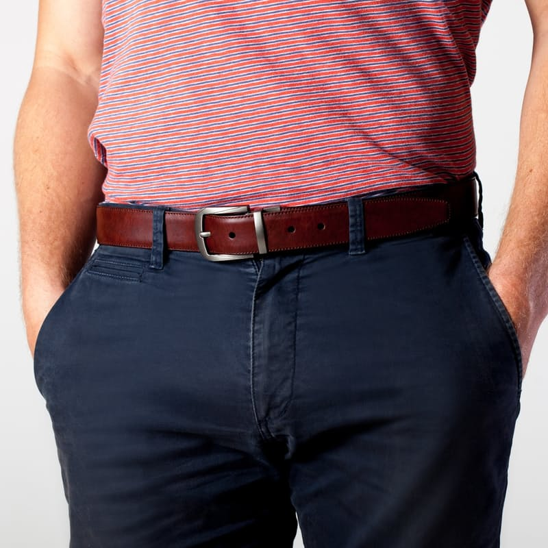 Reversible Double Sided Leather Belt