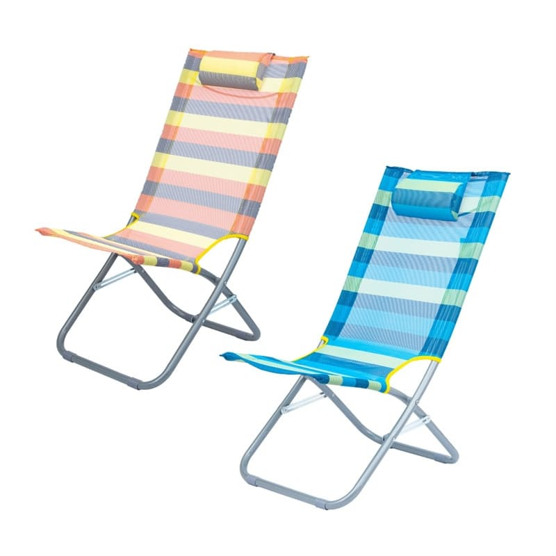 Picnic Steel Beach Chair (Multiple Colours Available)