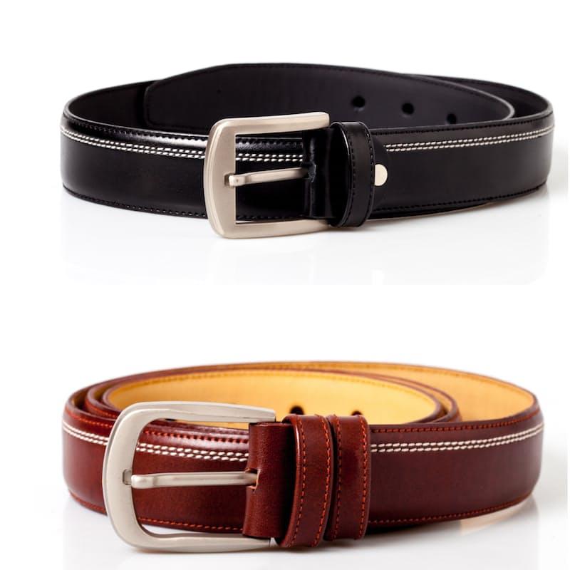 Men's Stitched Leather Belts