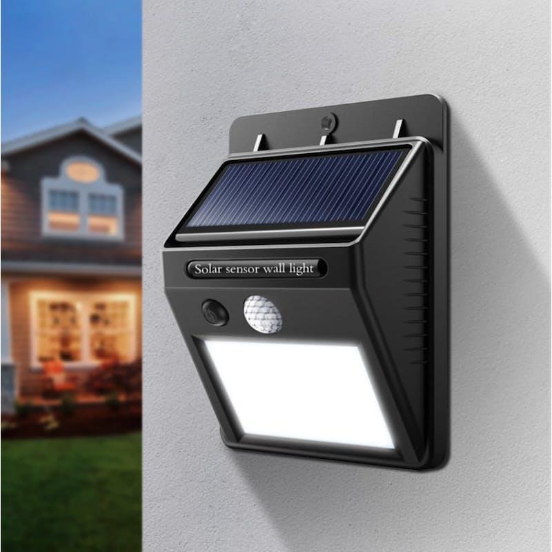 Pack of 4 Waterproof Motion Detecting PIR Solar Powered LED Wall Lights