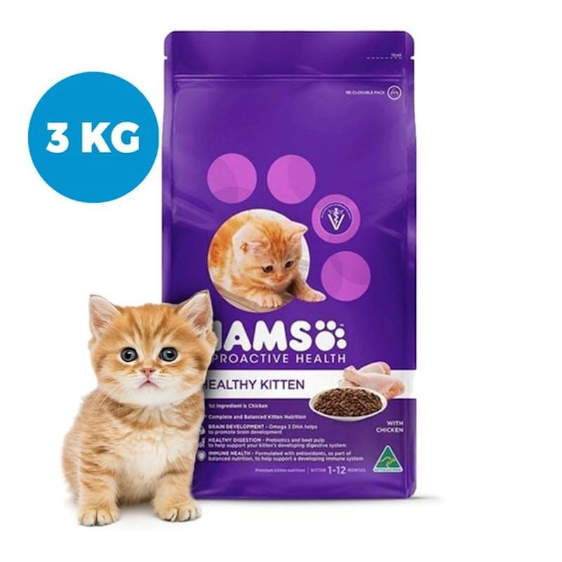 Pack of 3, 1kg Kitten Chicken Dry Food (3kg Total)